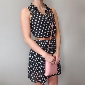American Rag Polka Dot Collared Dress